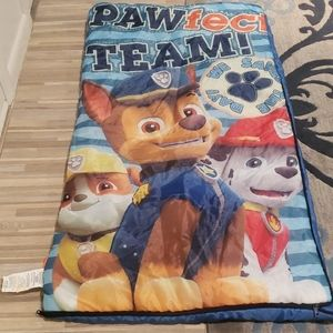 Paw Patrol Sleeping Bag and Chase Pillow